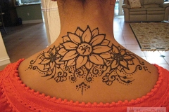 back and chest henna image 1