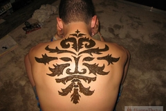 back and chest henna image 7