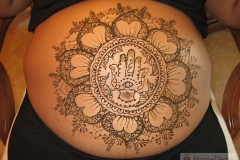 belly henna image 8