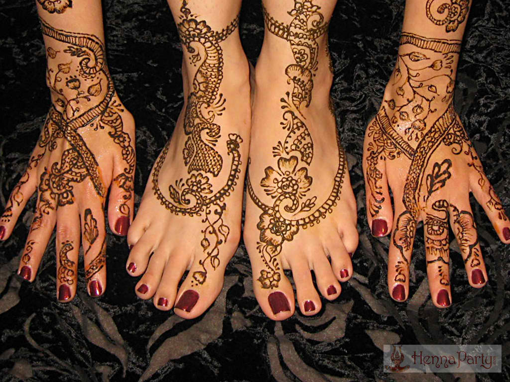 Feet And Legs Henna Designs Henna Party
