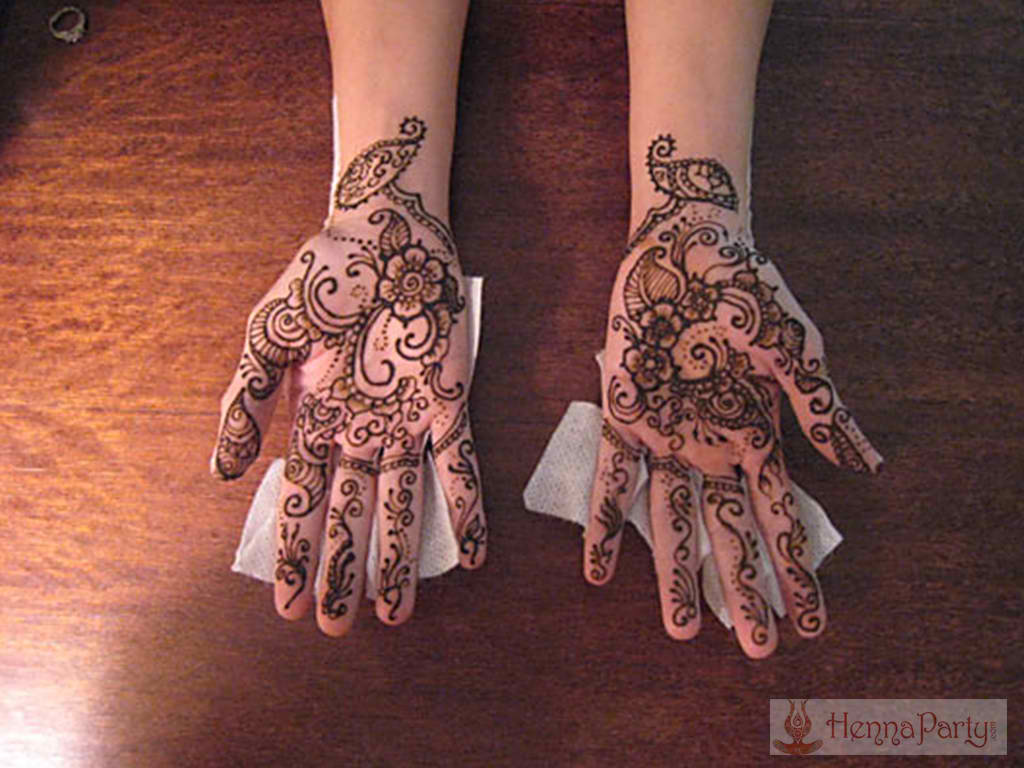 Henna Party Rates : Hands and arms henna designs party