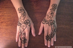 hands and arms henna image 15