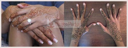 henna on dark skin tone